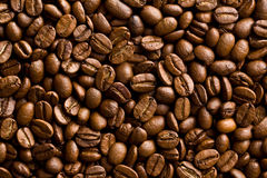 Patroon van de achtergrond van koffiebonen stock afbeelding