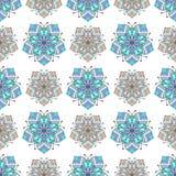 Patroon van de bloem het abstracte naadloze tegel vector illustratie