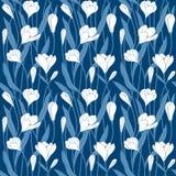 Patroon van de bloemen het decoratieve voortuin stock illustratie