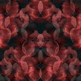 Patroon van de cirkel het geometrische waterverf Royalty-vrije Stock Foto's