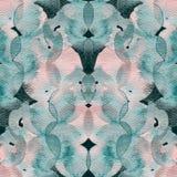 Patroon van de cirkel het geometrische waterverf Royalty-vrije Stock Afbeeldingen