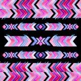 Patroon van de de inspiratiewaterverf van Navajo het Azteekse textiel Inheemse amer stock illustratie