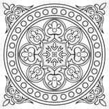 Patroon van de de tegel het uitstekende zwarte lijn van de handtekening royalty-vrije illustratie