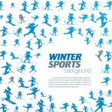 Patroon van de de winter het extreme sport Royalty-vrije Stock Afbeeldingen