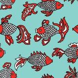 Patroon van de decoratieve vissen Stock Afbeelding