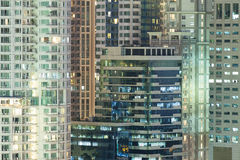Patroon van de gebouwen van het Venstersbureau Royalty-vrije Stock Afbeeldingen
