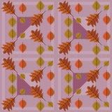 Patroon van de herfst het in bladeren Stock Foto's
