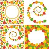 Patroon van de herfstbladeren Stock Foto