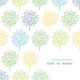 Patroon van de het kaderhoek van de zomerbomen het kleurrijke Royalty-vrije Stock Foto
