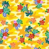 Patroon van de Hibiscus Royalty-vrije Stock Afbeeldingen