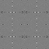 Patroon van de ontwerp het naadloze niet gekleurde draaikolk vector illustratie