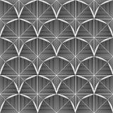 Patroon van de ontwerp het naadloze zwart-wit achthoek Royalty-vrije Stock Foto