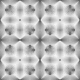 Patroon van de ontwerp het naadloze zwart-wit illusie Royalty-vrije Stock Foto