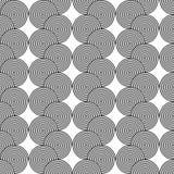 Patroon van de ontwerp het naadloze zwart-wit spiraalvormige draai Royalty-vrije Stock Fotografie