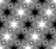 Patroon van de ontwerp het naadloze zwart-wit ster Royalty-vrije Stock Foto