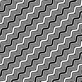 Patroon van de ontwerp het naadloze zwart-wit zigzag Stock Afbeelding