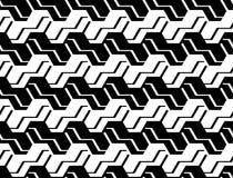 Patroon van de ontwerp het naadloze zwart-wit zigzag Royalty-vrije Stock Fotografie