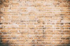 Patroon van de oranje oude achtergrond van de bakstenen muurtextuur stock foto