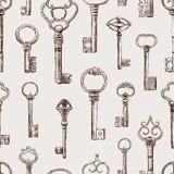 Patroon van de oude sleutels stock illustratie