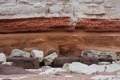 Patroon van de rots het gestreepte textuur Royalty-vrije Stock Foto's