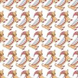 Patroon van de tekkel het leuke hond Stock Afbeelding
