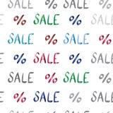 Patroon van de verkoop het vectortekst voor uw ontwerp Royalty-vrije Stock Afbeeldingen