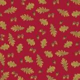 Patroon van de waterverf van de herfstbladeren royalty-vrije illustratie