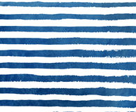 Patroon van de waterverf het donkerblauwe streep grunge Stock Foto's