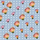 Patroon van de waterverf het naadloze bloem Stock Foto