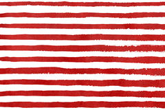 Patroon van de waterverf het rode streep grunge Stock Foto
