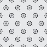 Patroon van de wielen van een motorfiets Vector Illustratie