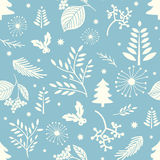 Patroon van de winter het naadloze Kerstmis Royalty-vrije Stock Afbeeldingen