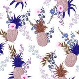 Patroon van de de zomer het naadloze vector bloemendruk in in kleurrijk s Stock Fotografie
