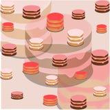 Patroon van drie verschillende cakes Stock Afbeeldingen