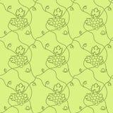 Patroon van een cluster van rijpe druiven Stock Foto's