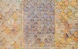 Patroon van een droog blad Stock Fotografie
