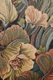 Patroon van een klassiek overladen bloementapijtwerk Stock Afbeelding