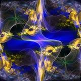 Patroon van een net en heldere het gloeien lichten. royalty-vrije illustratie