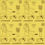Patroon van Egyptische hiërogliefen Stock Foto's