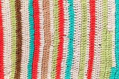 Patroon van gebreide deken, achtergrondfototextuur Royalty-vrije Stock Afbeelding