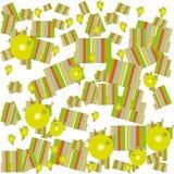 Patroon van geometrische vormen heldere kleuren Stock Afbeelding