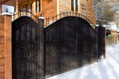 Patroon van gesmede poort Stock Foto's