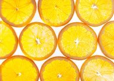 Patroon van Gesneden Sinaasappel Stock Afbeeldingen