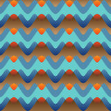 Patroon van golven Stock Foto