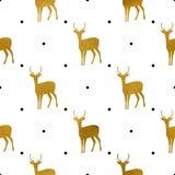 Patroon van Gouden Beren op Wit Royalty-vrije Stock Afbeeldingen