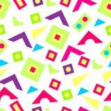Patroon van helder geometrische vormen Royalty-vrije Stock Afbeeldingen