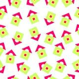 Patroon van helder geometrische vormen Royalty-vrije Stock Foto