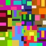 Patroon van heldere gekleurde vierkanten en rechthoeken in een comfortabel huis Stock Afbeelding