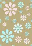Patroon van het Behang van de pastelkleur het Naadloze Bloemen stock illustratie