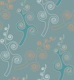 Patroon van het Behang van Swirly het Naadloze Stock Foto